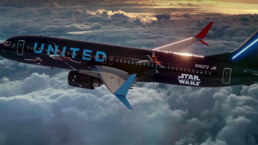 United Airlines Star Wars-themed airplane makes inaugural visit to Orlando | The Disney Blog