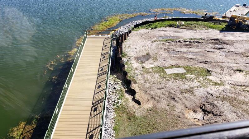 Magic Kingdom pathway to Grand Floridian Bridge installed