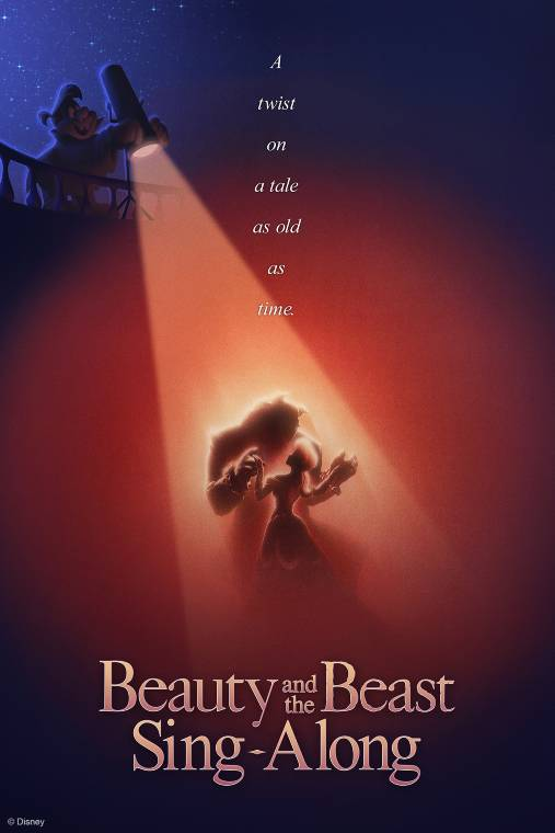 Beauty and the Beast sign-along poster