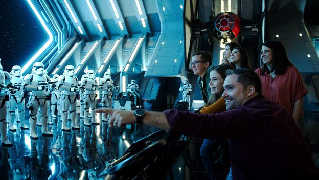 Parker Anderson and family ride Star Wars: Rise of the Resistance