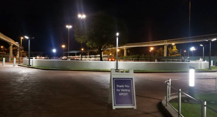 EPCOT Tram Loading Zone