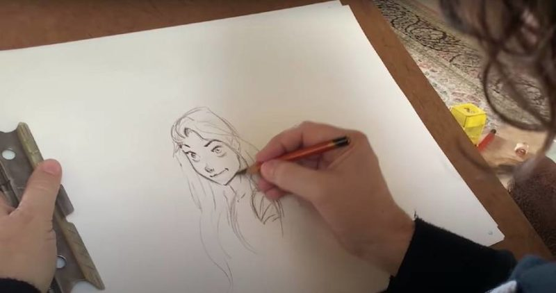How To Draw Rapunzel From Disney S Tangled The Disney Blog