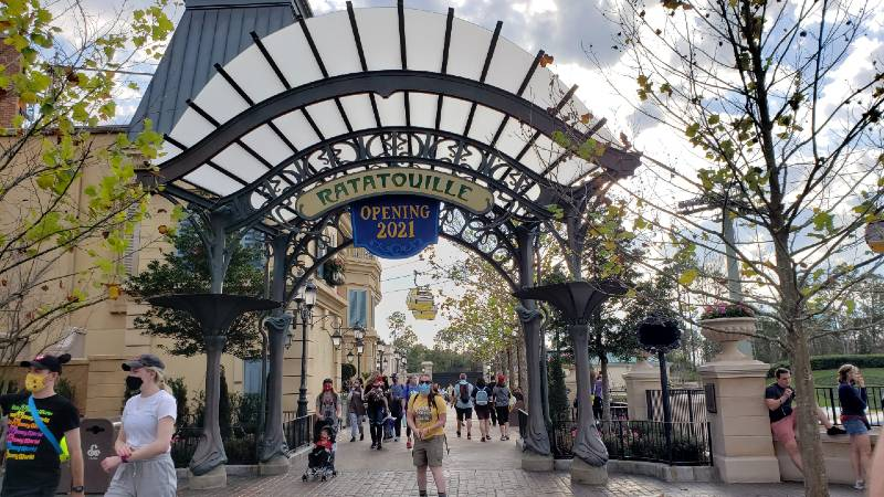 Opening to new Ratatouille area of France pavilion