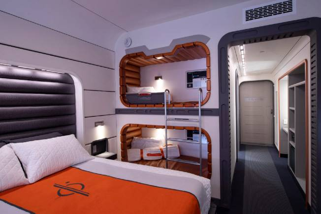 Star Wars Hotel room mockup. Bunk beds are available for the Padawan.