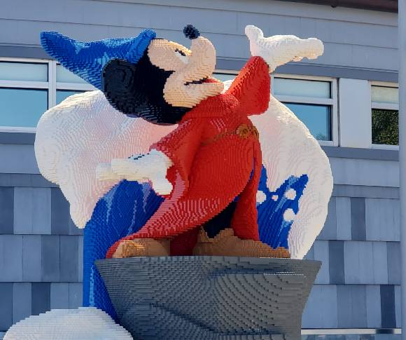 A look at the detail work on Mickey Mouse as the Sorcerer's Apprentice
