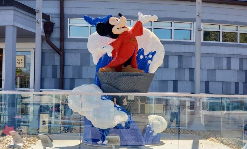 Sorcerer Mickey Lego art sculpture