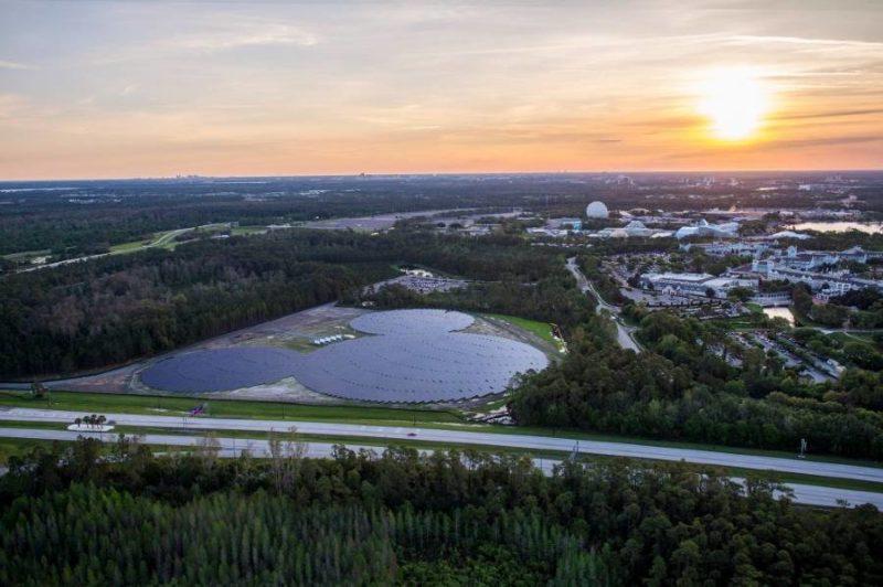 EPCOT Mickey Mouse shaped solar panel farm