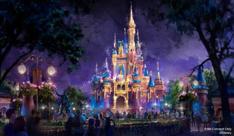 Cinderella Castle 50th anniversary concept art