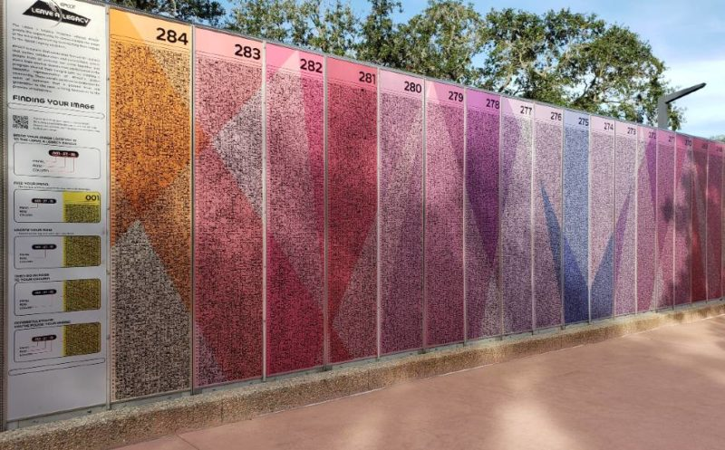 Leave A Legacy panels and instructions at EPCOT