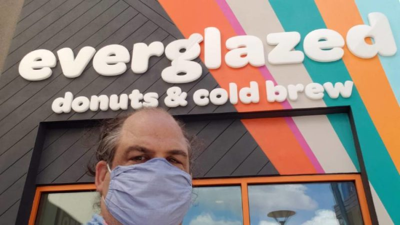Everglazed Donuts & Cold Brew sign