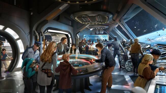 Star Wars: Galactic Starcruiser Resort at Walt Disney World - bridge art rendering