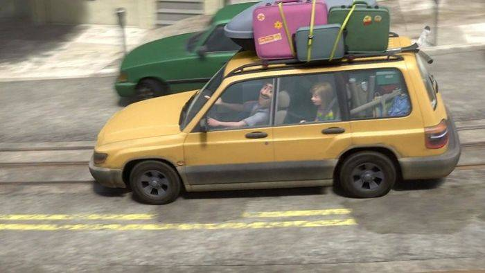 Yellow family car from Pixar's Inside Out
