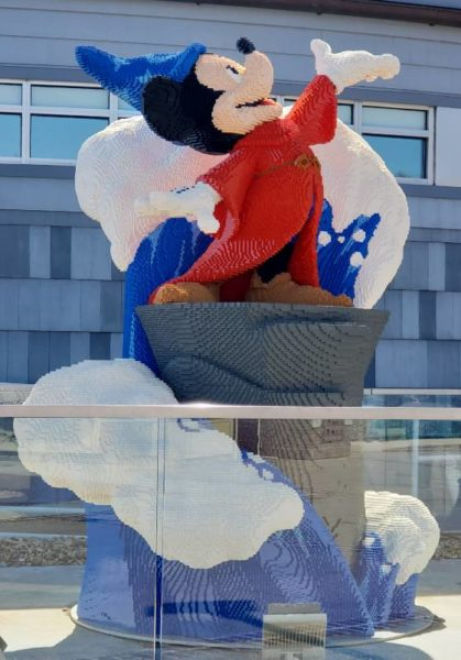 The Sorcerer's Apprentice from Disney's Fantasia as a LEGO art sculpture