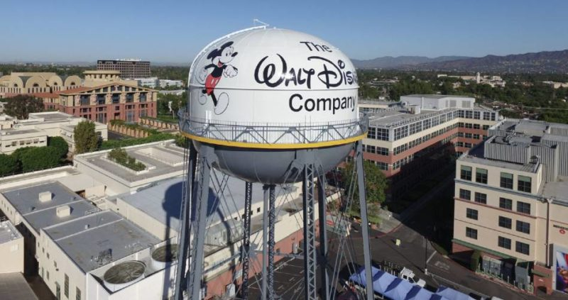 The Walt Disney Company lot with water tower