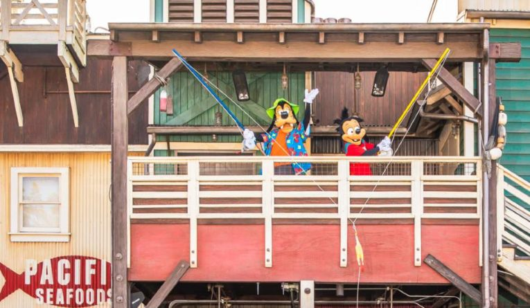 Pacific Wharf features Goofy and Max