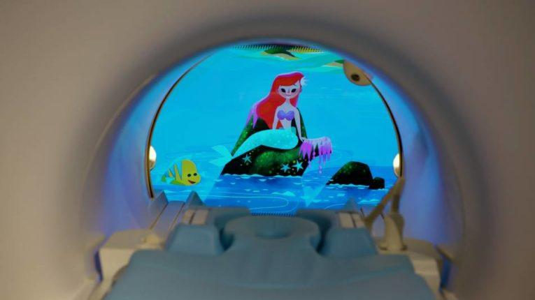 Little Mermaid scene in MRI machine