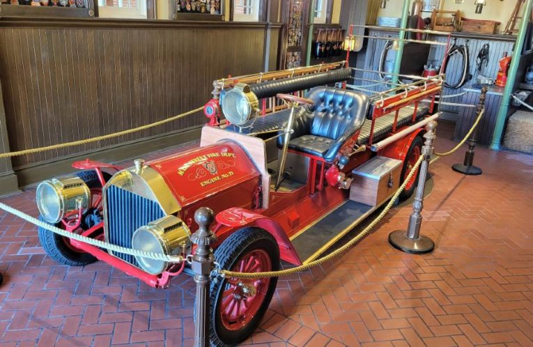 Engine No. 71 in the Main Street Fire Station