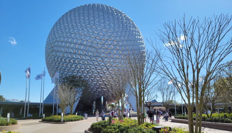 New pavilion flags raised in EPCOT entrance plaza | The Disney Blog