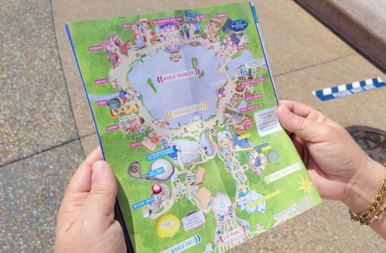 Epcot Park Map Fixed