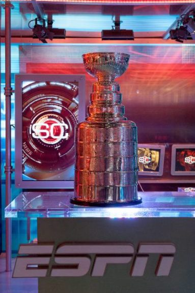 Stanley Cup in the ESPN Studios