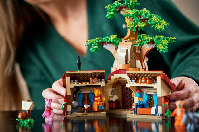 Winnie the Pooh house out of LEGO