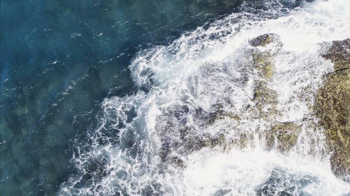 Ocean waves crashing ashore