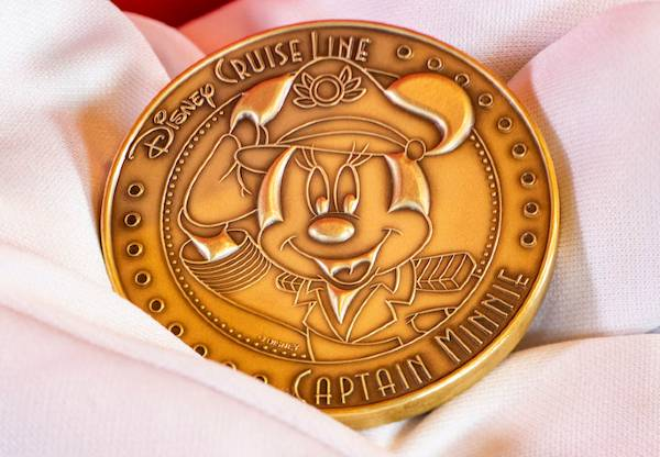 Captain Minnie Mouse coin for Disney Wish keel laying ceremony