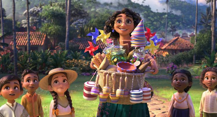 Disney Encanto teaser image. The movie is in theaters Nov 24, 2021