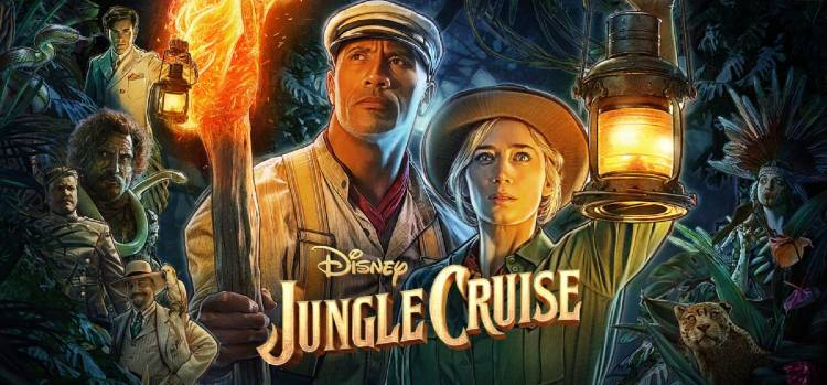 Dwayne Johnson and Emily Blunt star in Disney's Jungle Cruise movie.