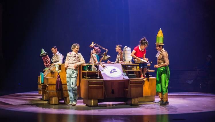 Disney + Cirque du Soleil - Drawn to Life cast