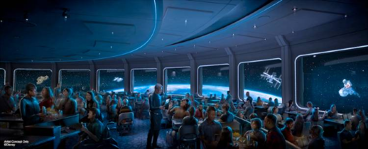 Space 220 Restaurant at EPCOT - art rendering