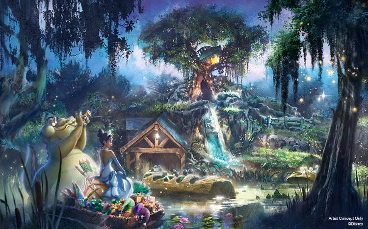 Princess and the Frog - Splash Mountain external artist rendering