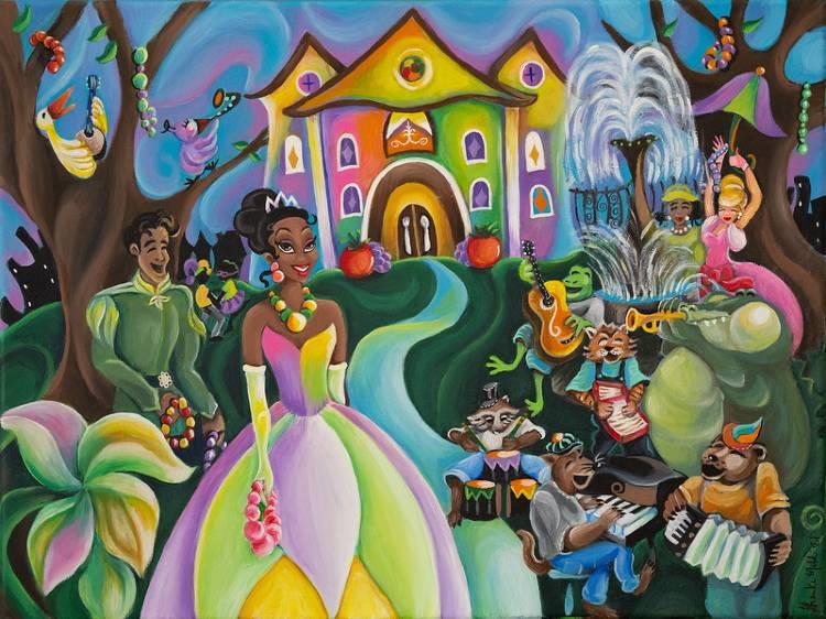 Princess and the Frog - Splash Mountain - Sharika Mahdi art