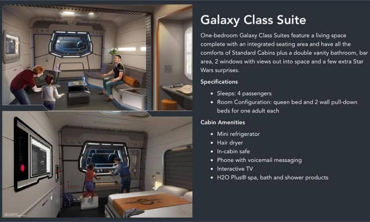 Star Wars: Galactic Starcruiser Resort at Walt Disney World - Galaxy Class Suite