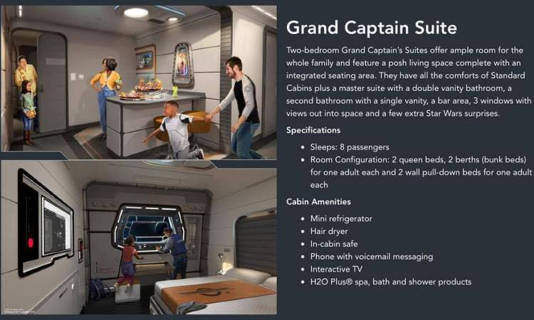 Star Wars: Galactic Starcruiser Resort at Walt Disney World - Grand Captain Suite