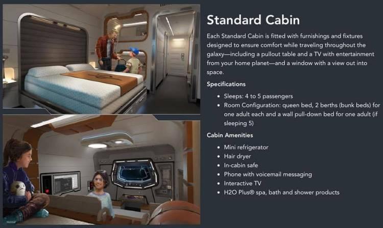 Star Wars: Galactic Starcruiser Resort at Walt Disney World - standard cabin