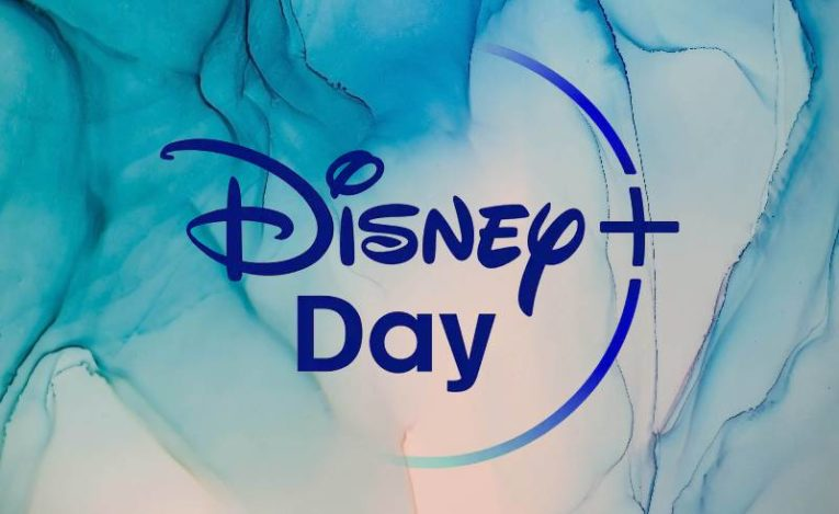 Disney+ Day logo on background