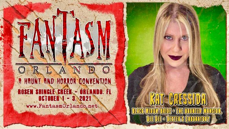 The Haunted Mansion's Kat Cressida to Appear at Fantasm Orlando Oct 1-3, 2021