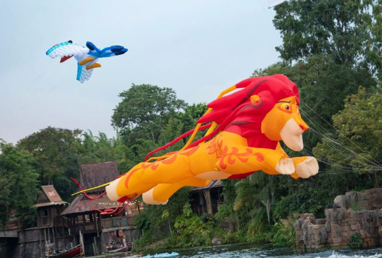Simba from The Lion King as a 30 ft kite