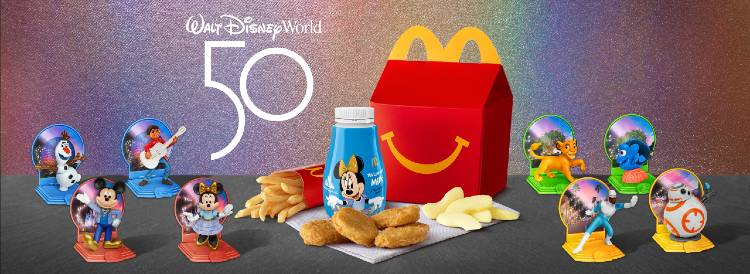 McDonald's Celebrates Walt Disney World 50th Anniversary with New Happy Meal Toys