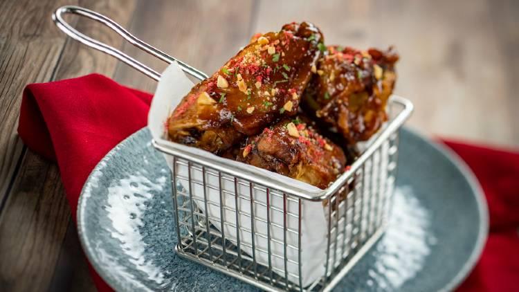 Steakhouse 71 Lounge - PB&J Chicken Wings