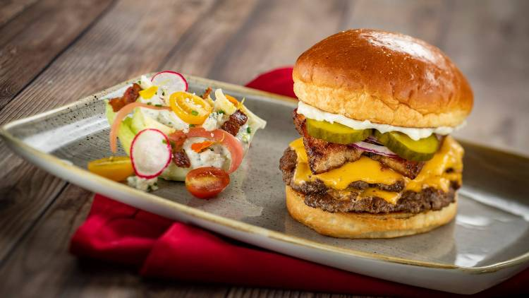 Steakhouse 71 at Disney's Contemporary Resort - Steakhouse 71 Stack Burger