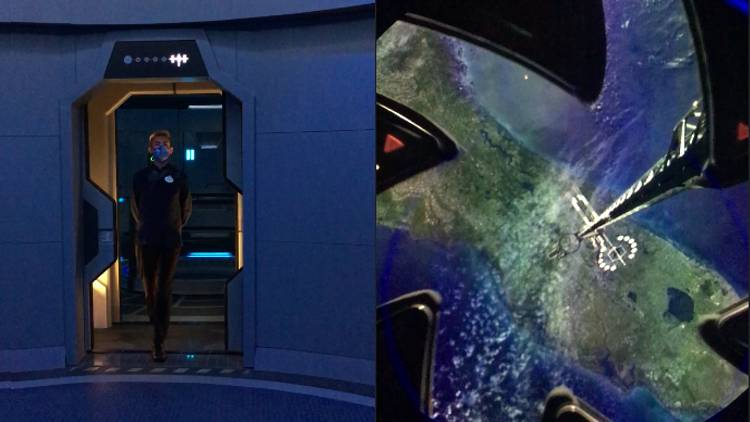The elevator connecting EPCOT to Space 220 restaurant