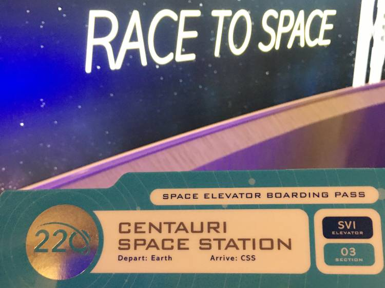 Space 220 Restaurant Opens at EPCOT -  boarding pass