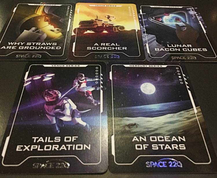 Space 220 at EPCOT - trading cards