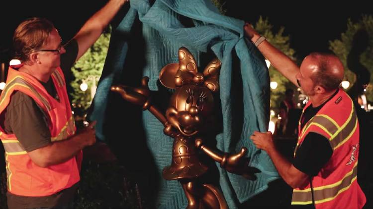 Walt Disney World's 50th Anniversary - Minnie Mouse statue unveiling