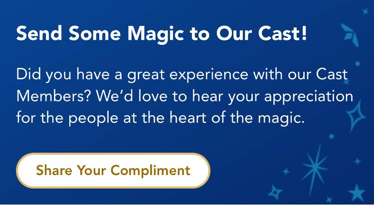 Mobile Cast Compliment Comes to My Disney Experience