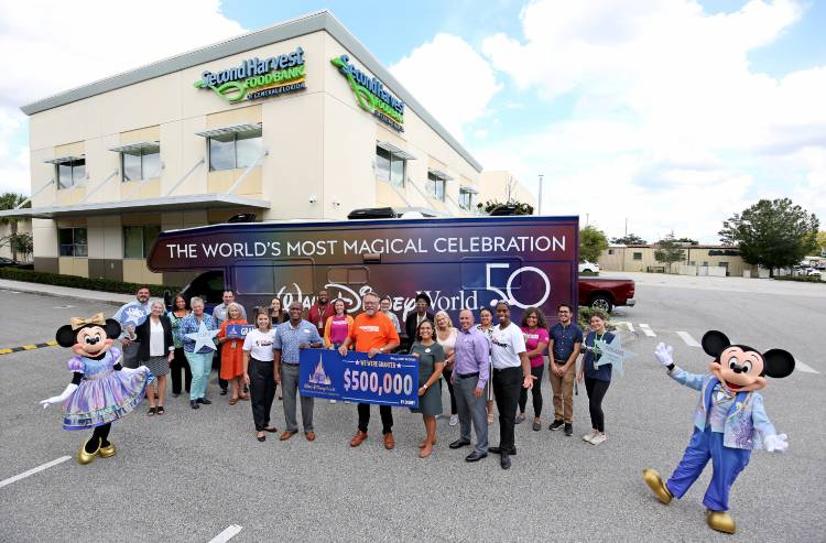 Walt Disney World giving grant to Second Harvest Food Bank of Central Florida